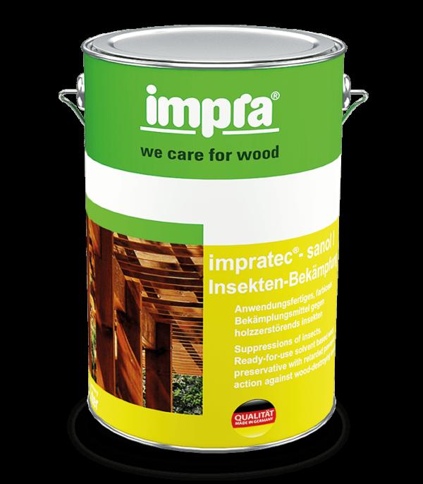 Impra Tec Sanol IB Довговічна паропроникна лазур для деревини на основі розчинника з додатковим УФ захистом