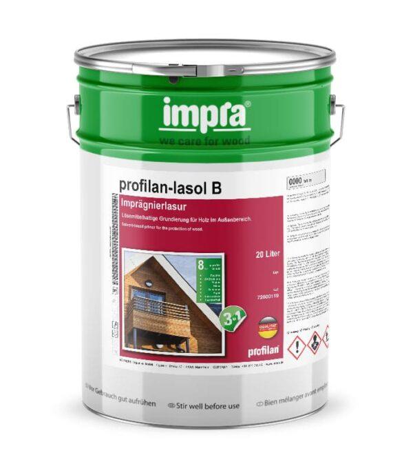 Фінішна лазур IMPRA Pofilan Lasol B – це тонкошарова, прозора лазур для деревини